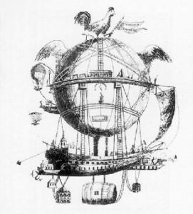 Το αερόστατο  του αεροναύτης Έτιεν Ρόμπερτσον