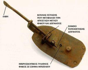 Μικροσκόπιο σχεδιασμένο από τον βαν Λέουενχουκ.