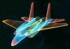 Σχεδίαση της βασικής δομής ενός μαχητικού αεροσκάφους F-15
